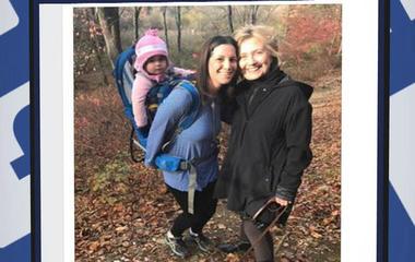 """""""Heartbroken"""" hiker runs into Clinton"""