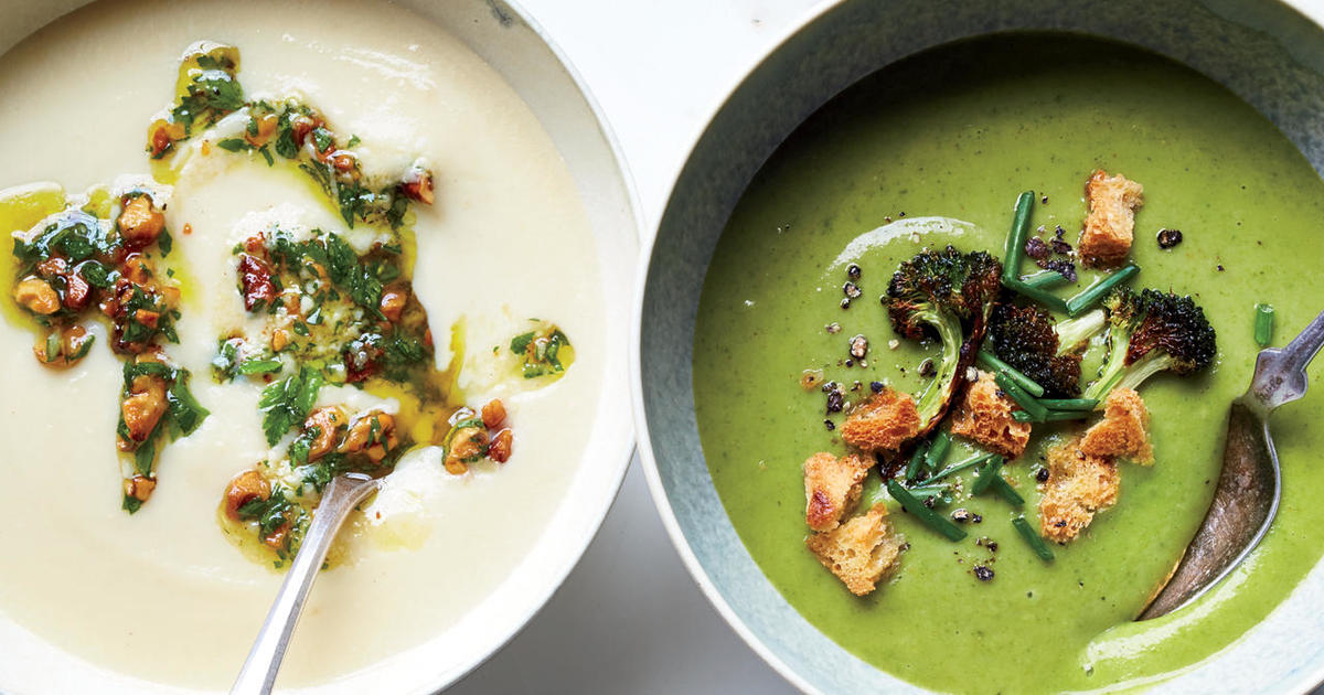 Recipe: Broccoli-Spinach Soup with Crispy Broccoli Florets and ...