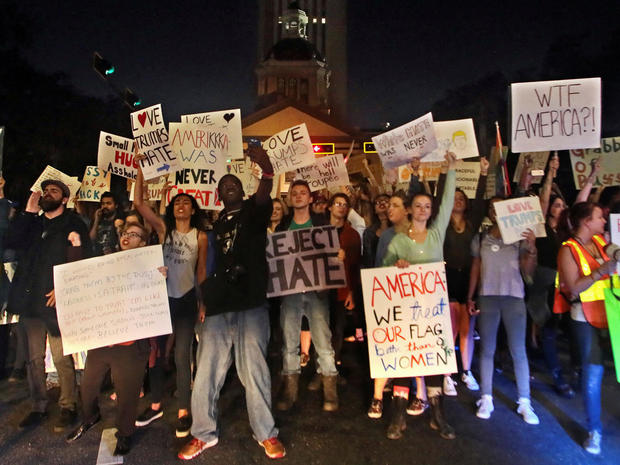 Anti-Trump protests enter second week