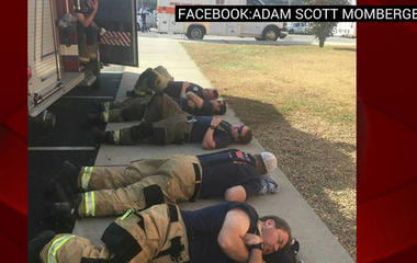 Photo of napping firefighters goes viral