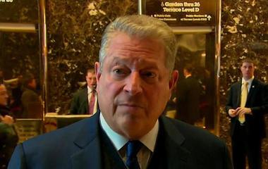 Al Gore meets with Donald and Ivanka Trump