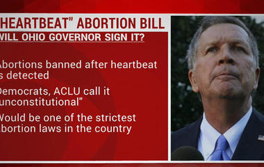 """Heartbeat"" abortion bill goes to Ohio Governor's desk"