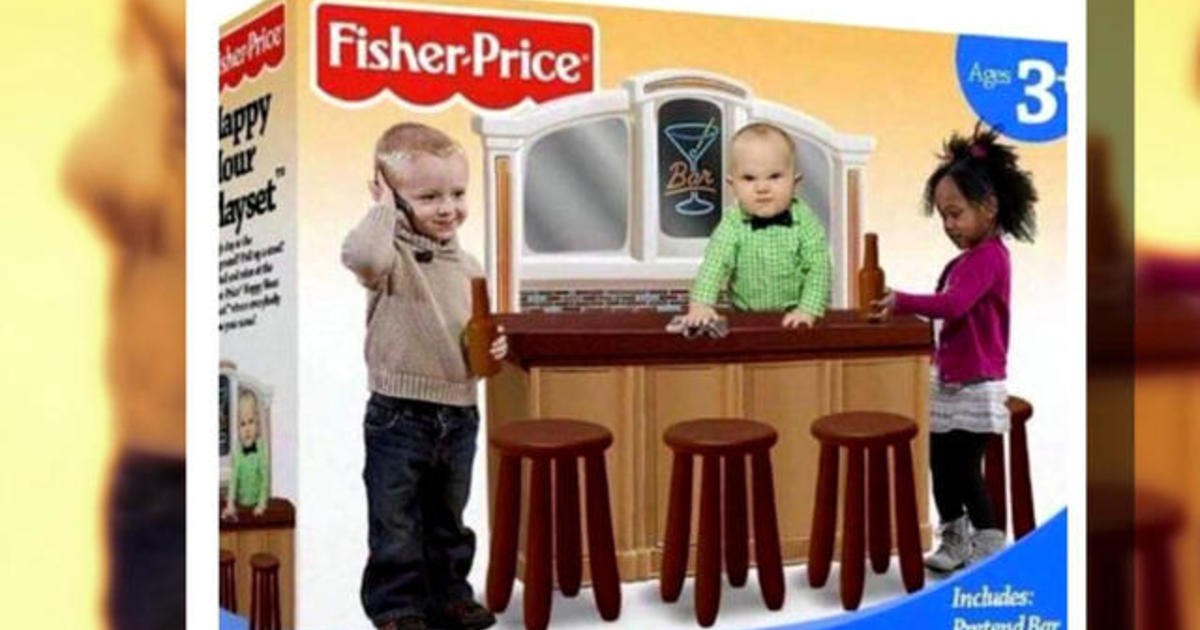 """Fake """"Happy Hour Playset """" sparks outrage - Videos - CBS News"""
