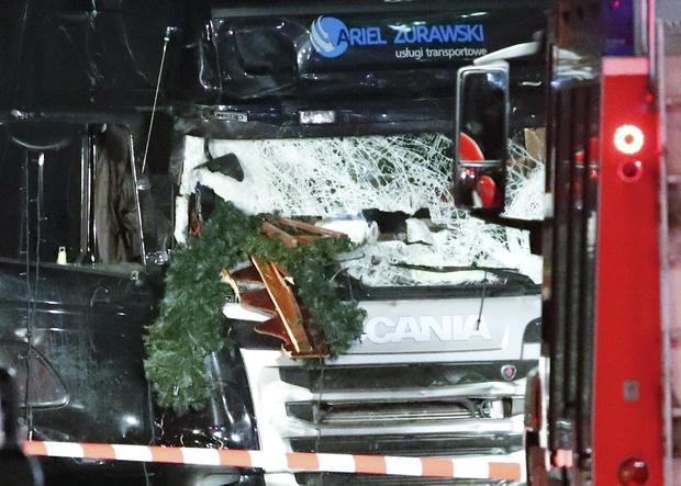 Truck plows into Berlin Christmas market