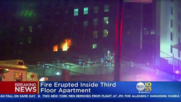 13 hurt in NYC high-rise fire