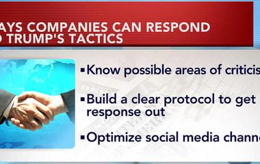 Companies prepare tactics to respond to Trump tweets