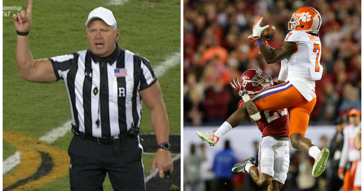 Buff referee Mike Defee steals show as Clemson Tigers beat Alabama Crimson Tide in college football championship
