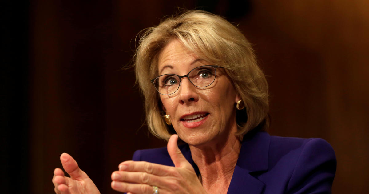 Education pick Betsy DeVos argues for school choice, disavows conversion therapy