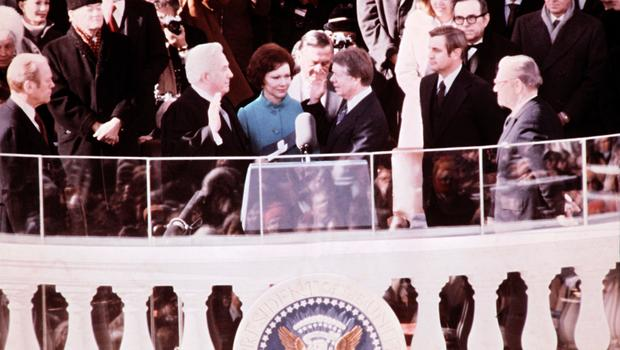 Jimmy carter inaugural address jan 20 1977 cbs news for First president to be inaugurated on january 20