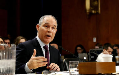 Trump's pick for EPA chief grilled by Senate