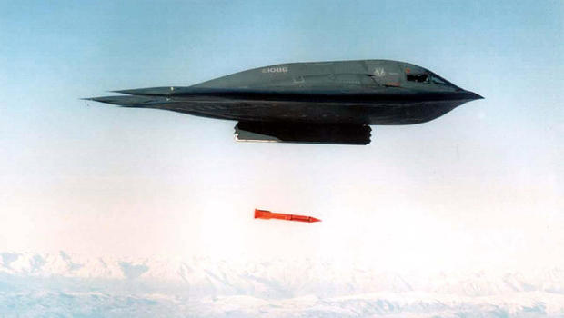 U.S.  stealth bombers attack suspected ISIS camps
