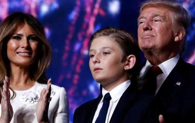Chelsea Clinton defends Barron Trump