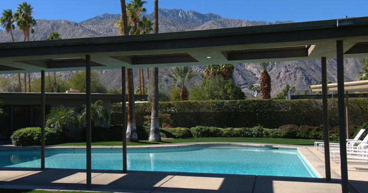 Palm springs preserving the rat pack era cbs news for Twin palms estates palm springs