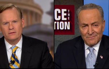 """Chuck Schumer says """"throw the immigration Executive Order in the trash can"""""""
