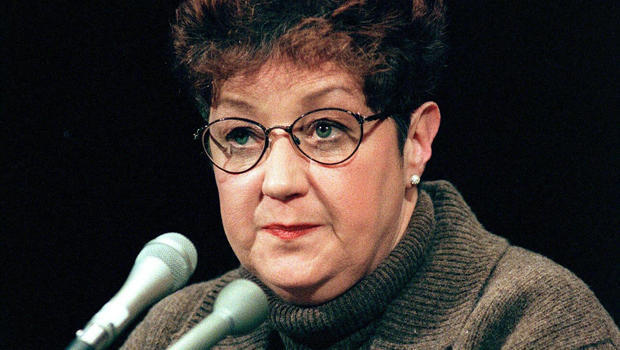 Norma McCorvey, the woman at the center of the U.S. Supreme Court ruling on abortion, testifies before a U.S. Senate Judiciary Committee subcommittee during hearings on the 25th anniversary of Roe v. Wade on Capitol Hill in Washington Jan. 21, 1998.