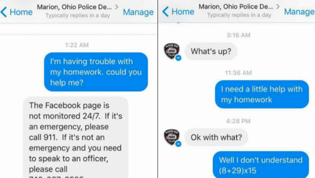 Cop Answers Adorable Call From 10-Year-Old For Homework Help