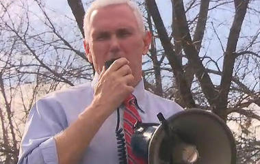Vice President Mike Pence visits vandalized Jewish cemetery in Missouri