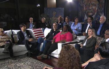 Watch: Voters in heated dispute over Trump's immigration agenda