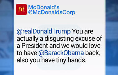 McDonald's Twitter gets hacked by Trump hater
