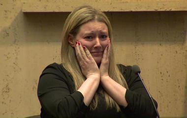 In tearful testimony, widow recounts husband's mall carjacking death