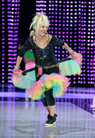 Betsey Johnson on the runway