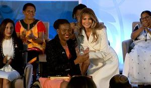 Melania Trump makes rare public appearance in Washington