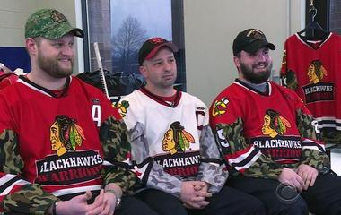 Wounded war heroes become ice hockey warriors