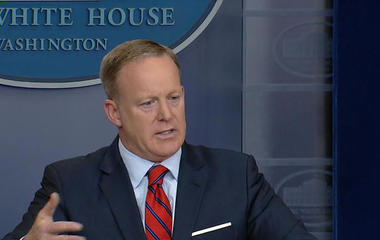 Sean Spicer says all options are on the table in Syria