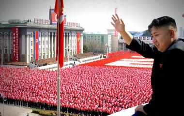 North Korea parades military arsenal
