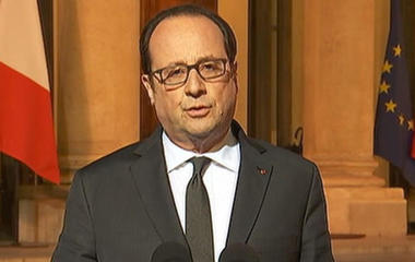 French President Francois Hollande holds conference after deadly Champs Elysees shooting