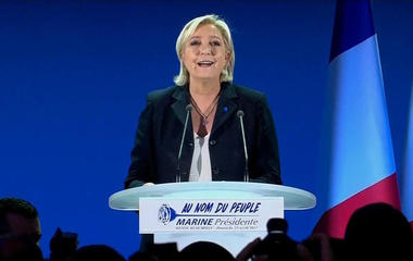 Two candidates move to second round in French election