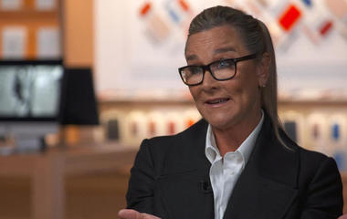 "Apple exec Angela Ahrendts on ""responsibility"" of big companies"