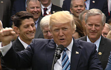 Trump, House Republicans celebrate health care victory