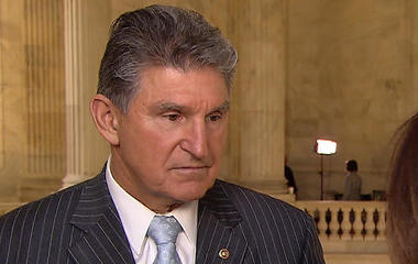 Sen. Joe Manchin reacts to firing of James Comey