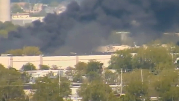 Jet crashes into buildings near New Jersey airport