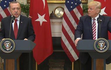 President Trump delivers statement with president of Turkey