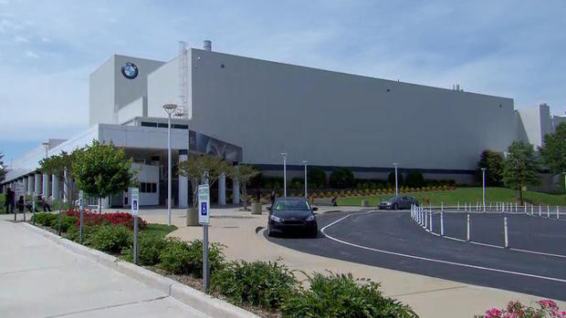 The BMW plant in Spartanburg South Carolina               CBS News