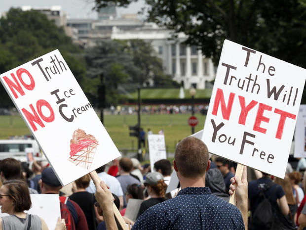 "Anti-Trump protesters ""March for Truth"""