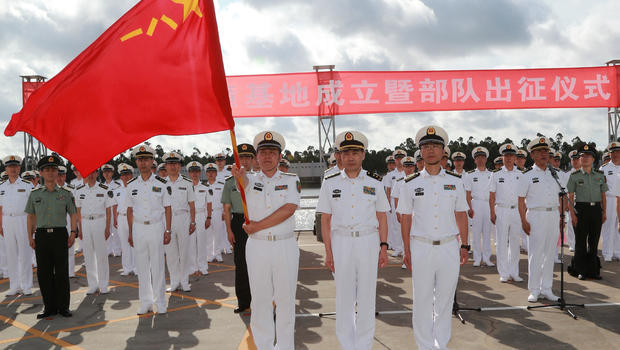 China sends troops to open first overseas military base in Djibouti – CBS News