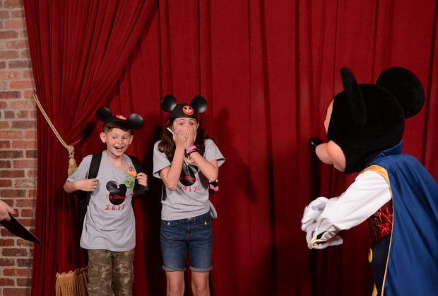 Foster kids learn their adoption date with a surprise from Mickey Mouse