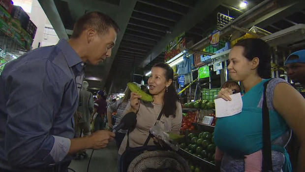 Florencia Cordero center said that one plantain cost as much as her house did 25 years ago.               CBS News