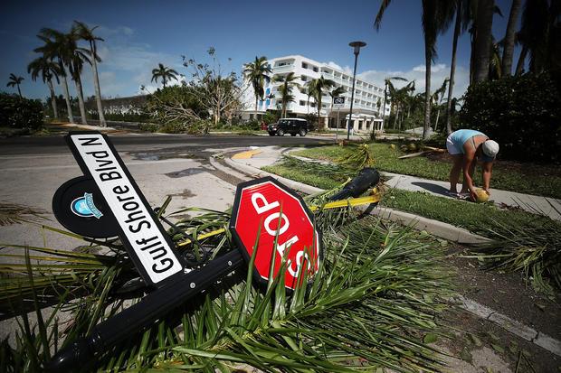 强大的飓风Irma猛击到佛罗里达