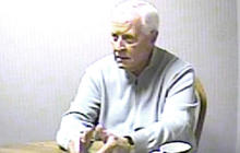 Hal Wenal interviewed by police after the vicious murder of his wife