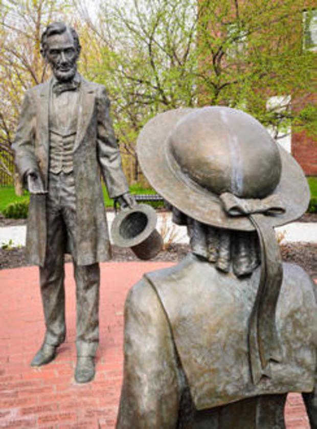 格雷斯·比德尔和亚伯拉罕·林肯的雕像