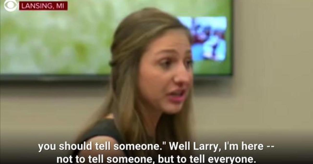 Larry Nassar Victim Kyle Stephens Gives Powerful Testimony About His Abuse Cbs News
