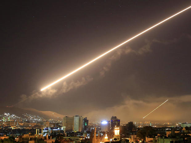 Missile strike on alleged Syrian chemical weapon sites