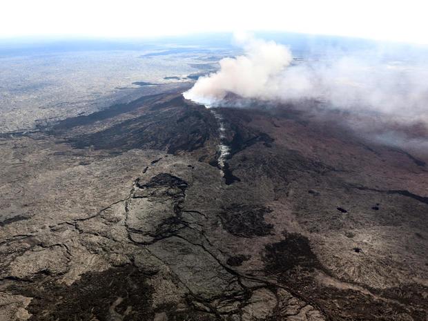 Volcanic eruption in Hawaii