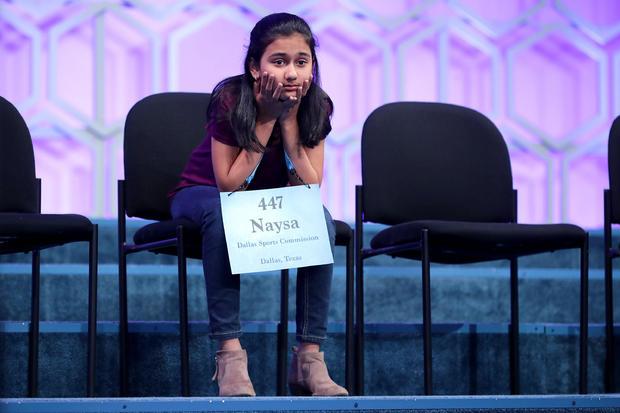 学生Spellers在2018年全国拼字比赛中竞争