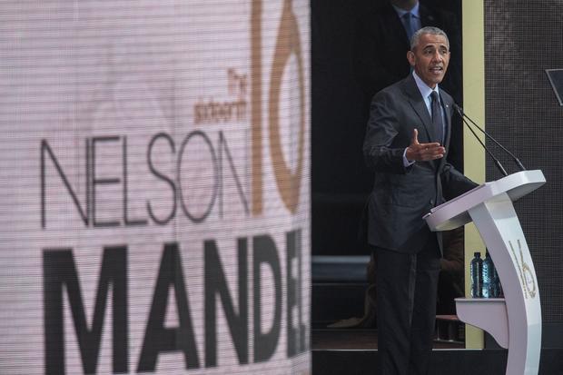 美国总统巴拉克奥巴马 - 纳尔逊曼德拉致辞