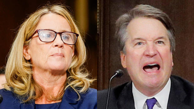 Christine Blasey Ford和律师Debra S. Katz,以及Michael R. Bromwich在2018年9月27日星期四在国会山举行的参议院司法委员会听证会上回答了问题。